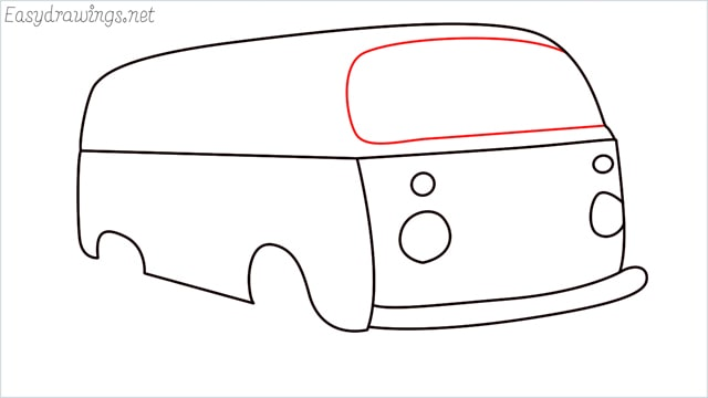 How to draw a van step (9)