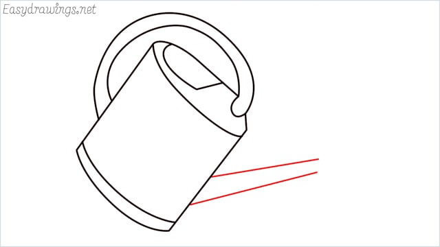 How to draw a watering can step (6)