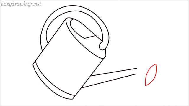 How to draw a watering can step (7)