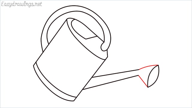 How to draw a watering can step (8)