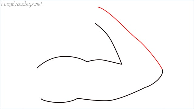 How to draw arms step (4)