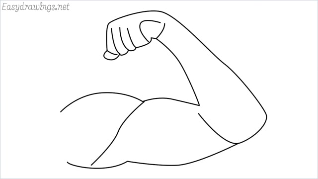 How to draw arms step by step