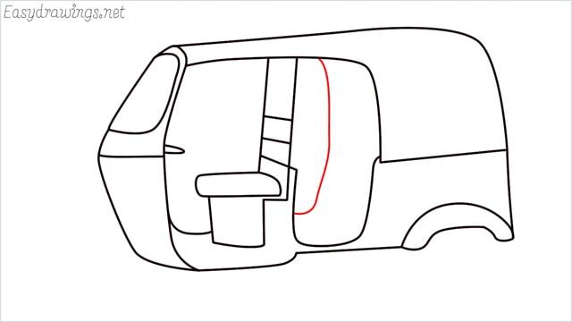 How to draw auto rickshaw step (10)
