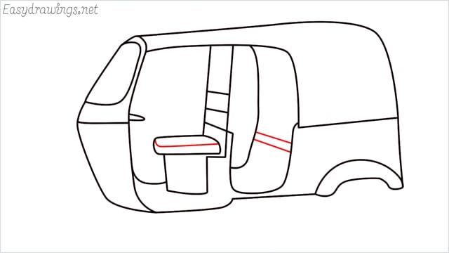 How to draw auto rickshaw step (11)