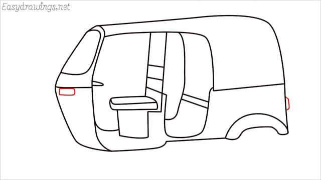 How to draw auto rickshaw step (12)