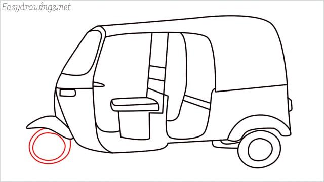 How to draw auto rickshaw step (15)
