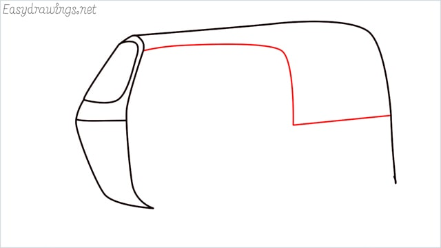 How to draw auto rickshaw step (4)