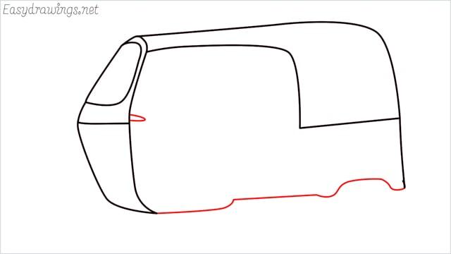 How to draw auto rickshaw step (5)