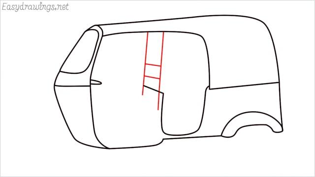 How to draw auto rickshaw step (7)