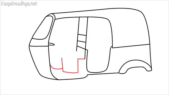 How to draw auto rickshaw step (8)