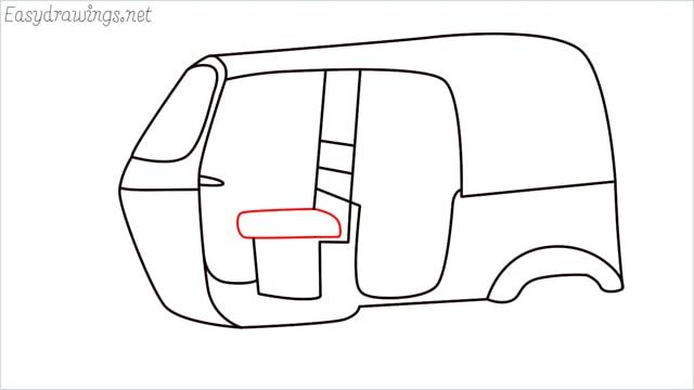 How to draw auto rickshaw step (9)