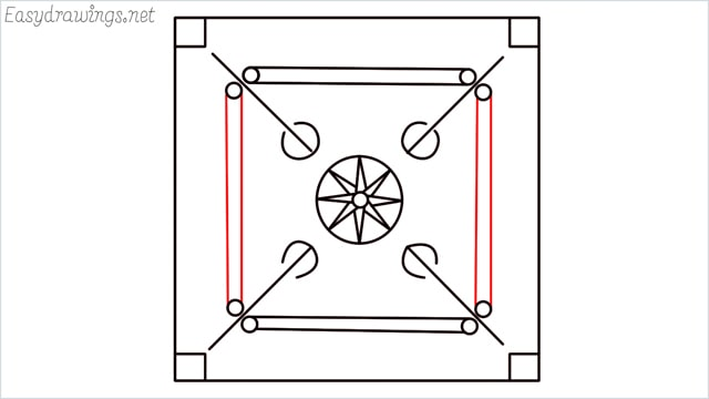 How to draw carrom board step (10)