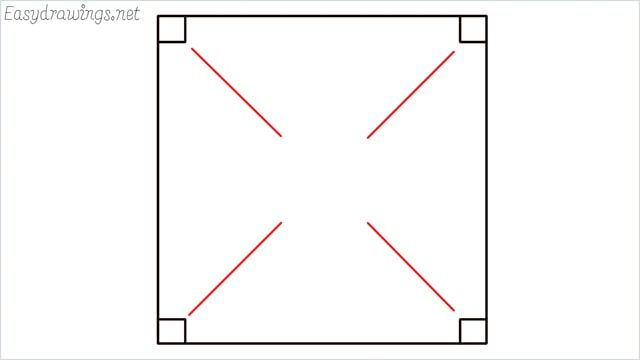 How to draw carrom board step (3)