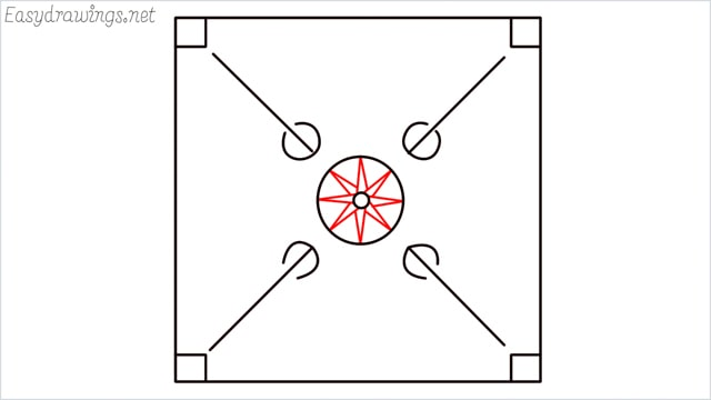 How to draw carrom board step (7)