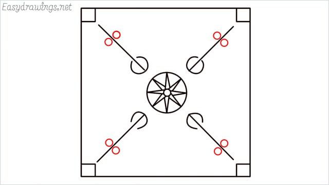 How to draw carrom board step (8)