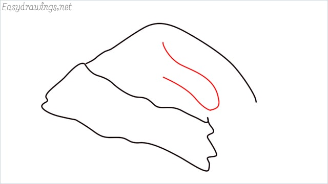 How to draw christmas hat step (5)