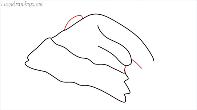 How to draw christmas hat step (6)
