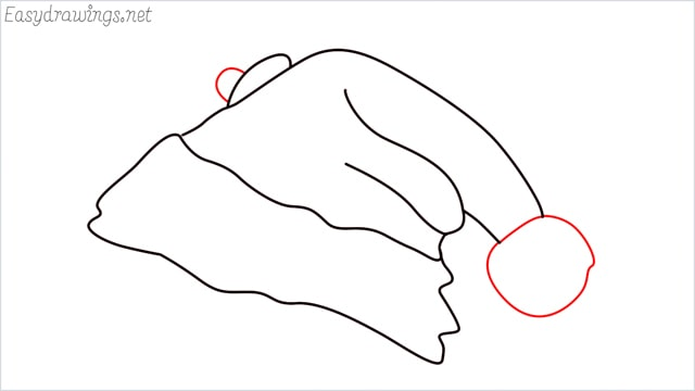 How to draw christmas hat step (7)