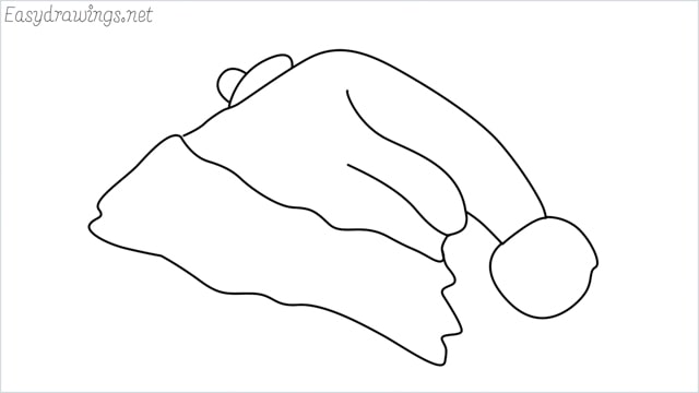 How to draw christmas hat step by step