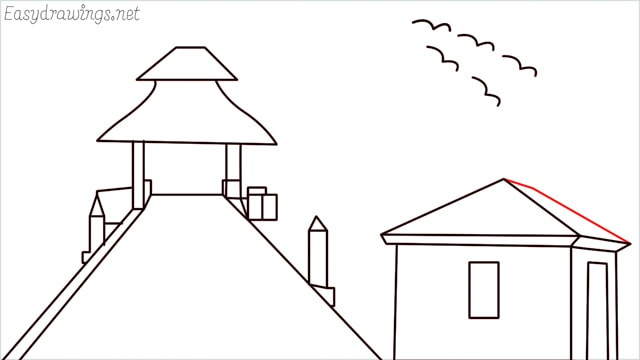 How to draw scenery ONE step (17)