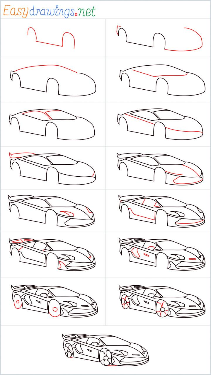 Overview Lamborghini Drawing