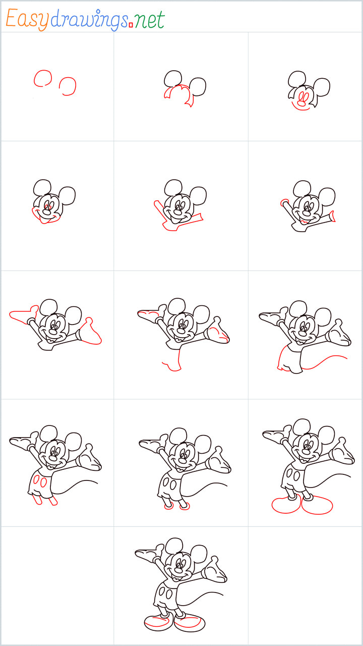 Overview Mickey mouse Drawing