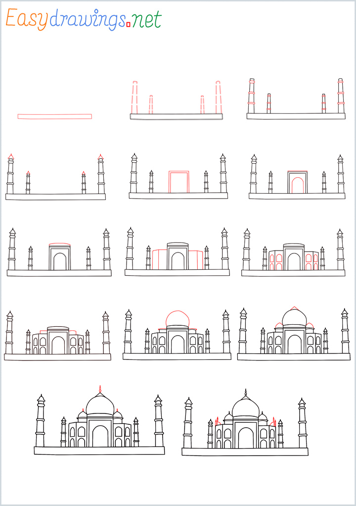 Overview of Taj Mahal Drawing Tutorial