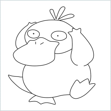 draw Psyduck