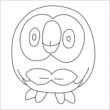 draw Rowlet