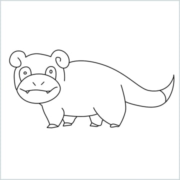 draw Slowpoke