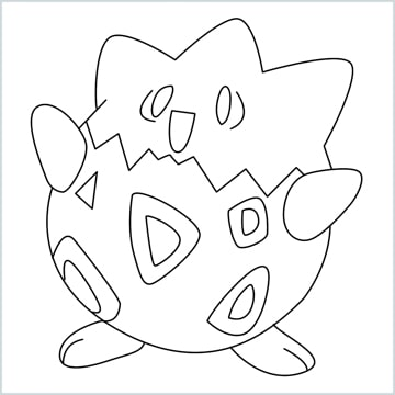 draw Togepi