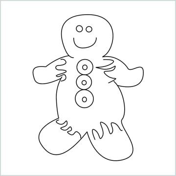 draw a Gingerbread Man