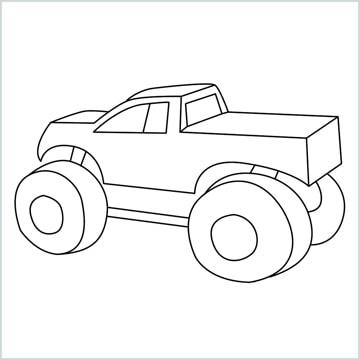 draw a Monster truck