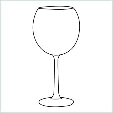 draw a Wine glass