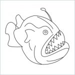 draw a angler fish
