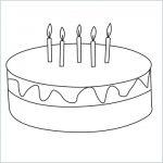 draw a birthday cake