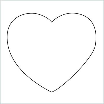 draw a heart shape