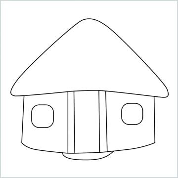draw a hut