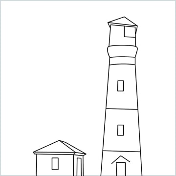 draw a lighthouse
