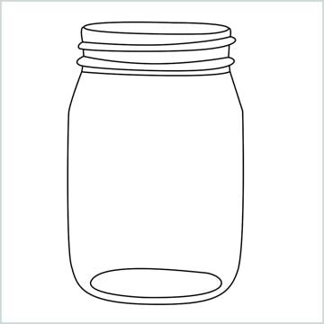 draw a mason jar