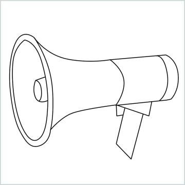 draw a megaphone