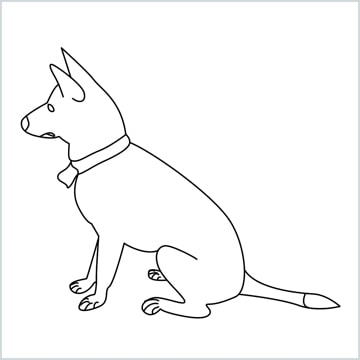 draw a my home dog