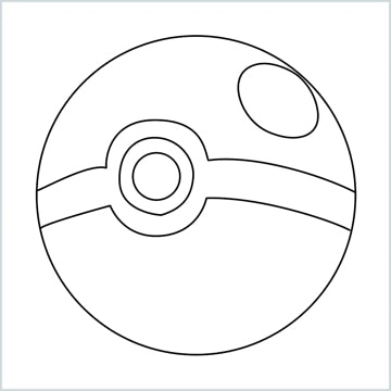 draw a pokemon ball