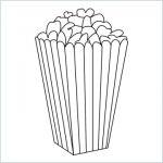 draw a popcorn