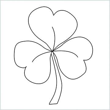 draw a shamrock