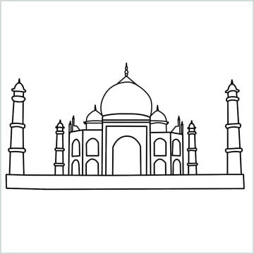 draw a taj mahal