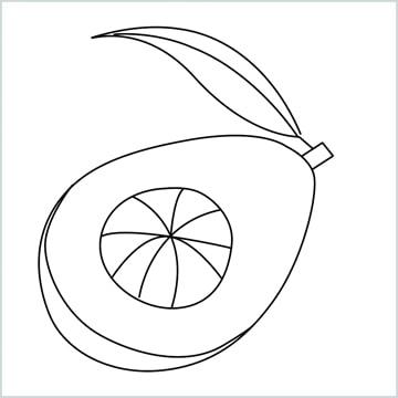 draw an avocado