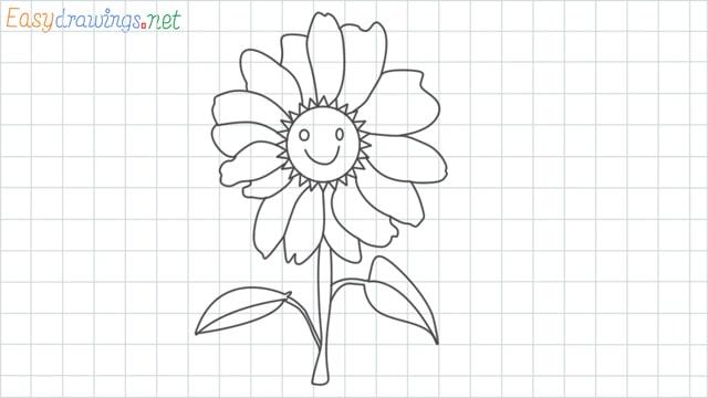 grid line Daisy drawing