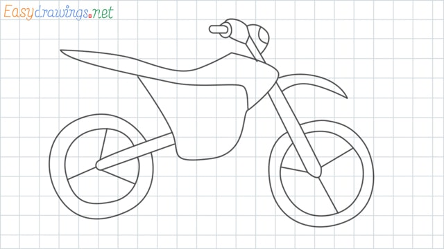 grid line Dirt bike drawing