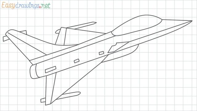grid line Fighter jet drawing